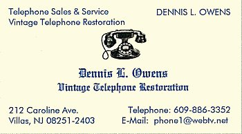 Dennis Owens Business Card