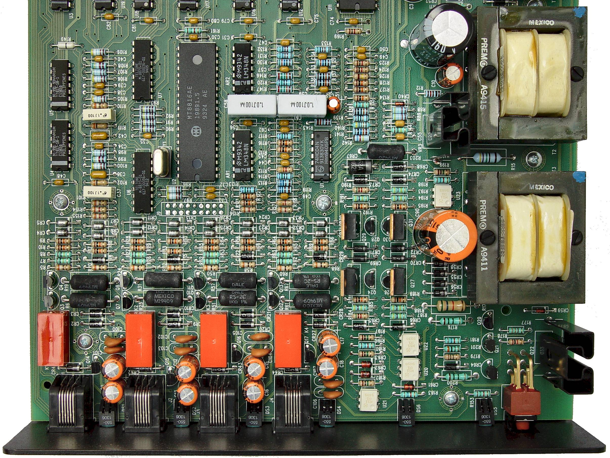 Telephone Line Simulator Best Ringing Circuits Close Up Of Front Half Circuit Board